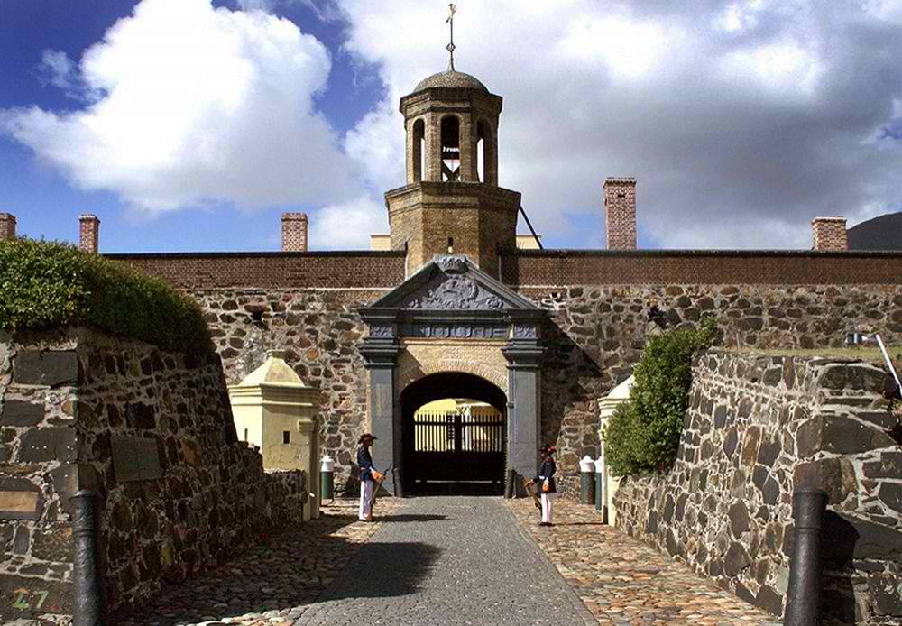 The entrance to the Castle of Good Hope, the oldest building in Cape Town