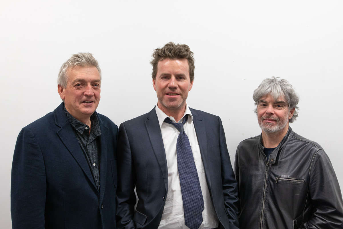Brendan Griffin, Mark D'Aughton, Malcolm Adams. Photo John Finn