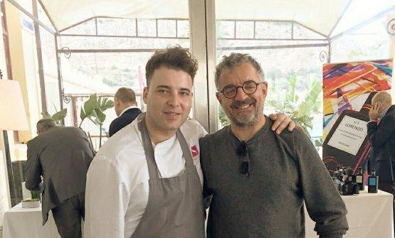 Emanuele Strigaro con Mauro Uliassi
