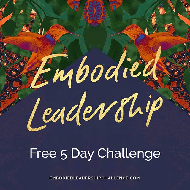 "Join me and @nishamoodley for the #EmbodiedLeadership Challenge (it's free!). The challenge includes 5 days of tools and practices to embody the next evolution of your leadership, so you can expand your freedom to rise with deep confidence and true grace - complete with a supportive sisterhood to cheer you on along the way.  In this challenge we will:  Learn a guided meditation for discovering the wisdom & clarity we most need to succeed. Do the #1 thing to help us transcend fear of failure, or of being judged harshly by others (even our family members!) Learn a powerful tool for staying focused & in-alignment with our mission and vision each day. Find a simple way to avoid burnout and integrate deeper self-care, even if we're super busy. Embrace & embody a paradigm of leadership that doesn't require us to be ""perfect"" or ""above"" anyone else in order to lead. Learn the unconventional path to becoming a radically more effective writer, speaker, manager, leader, and negotiator. At the end of the challenge, we'll all come together to integrate our journey in a bonus live Embody Your Leadership workshop! I'm so excited for this. Check it out here: EmbodiedLeadershipChallenge.com"