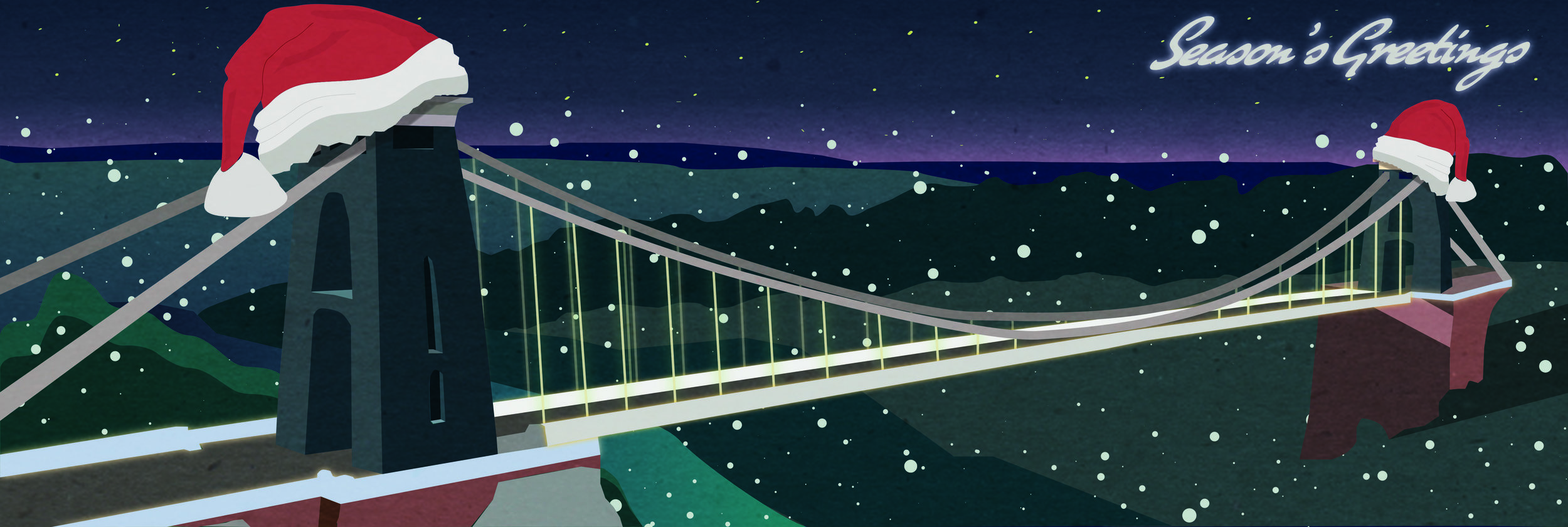 Christmas Card created for Bristol UWE email greetings.
