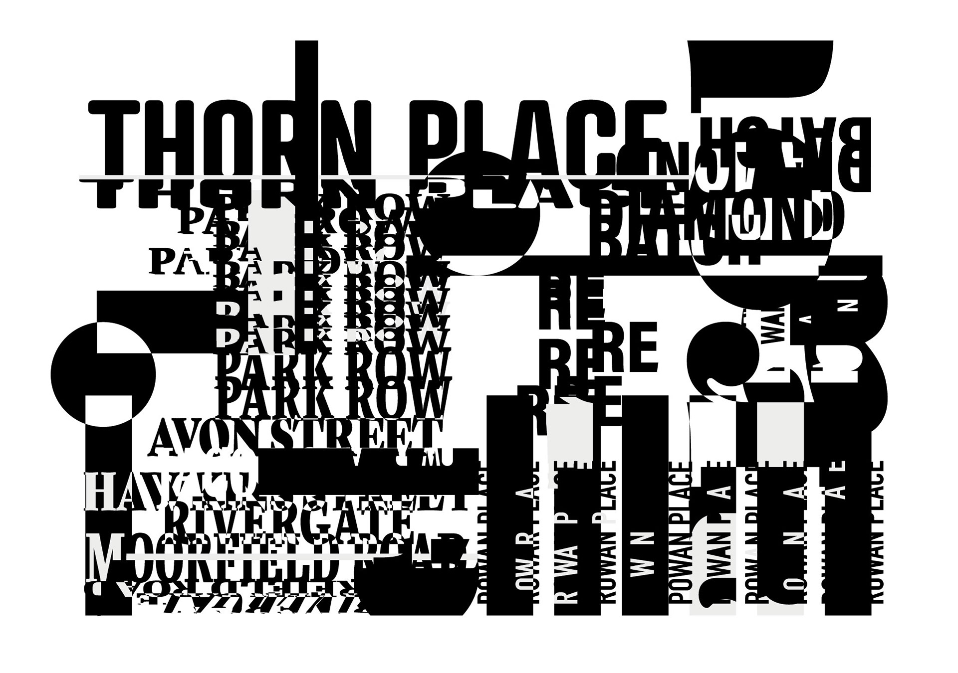 Experimental typography - Part of Chasing The Sun project