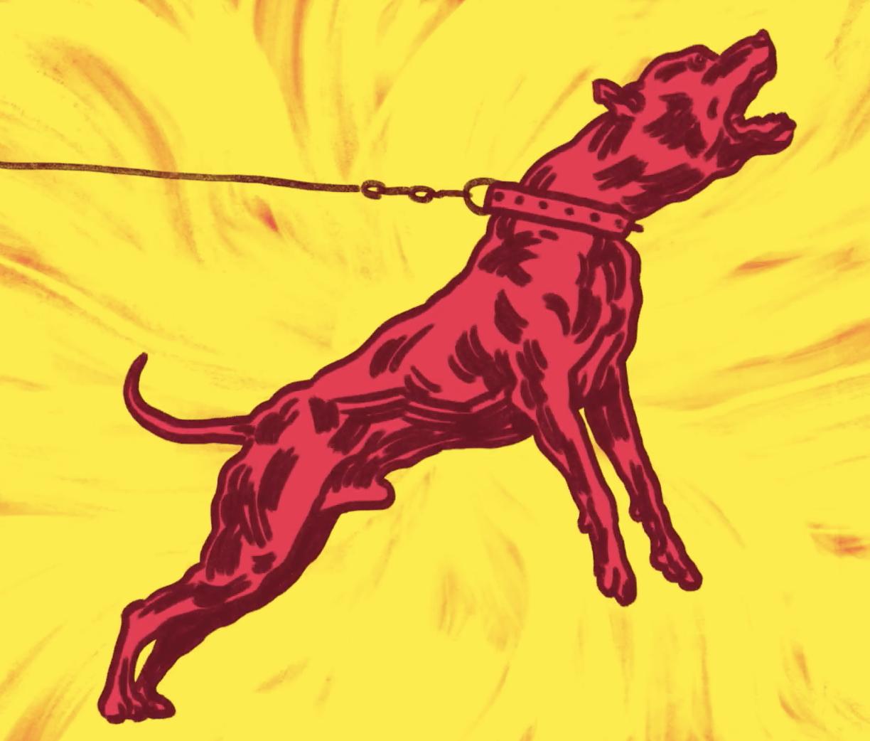 Illustration for Writer Archie Hamilton short story 'A Doggie World'