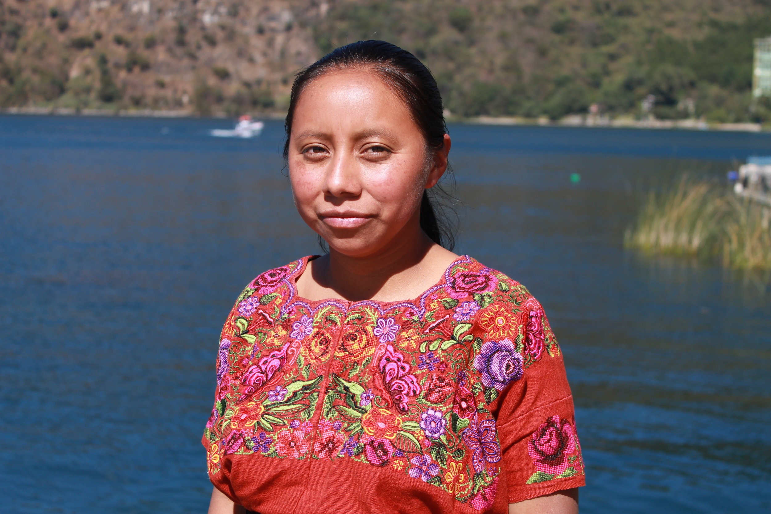 Juana Cumes - Chichicastenango - Friendship Bridge's client for 7 loan cycles.Living in the well-known town of Chichicastenango, Juana is a weaver. She makes the pillow covers that are featured in our Signature Collection.