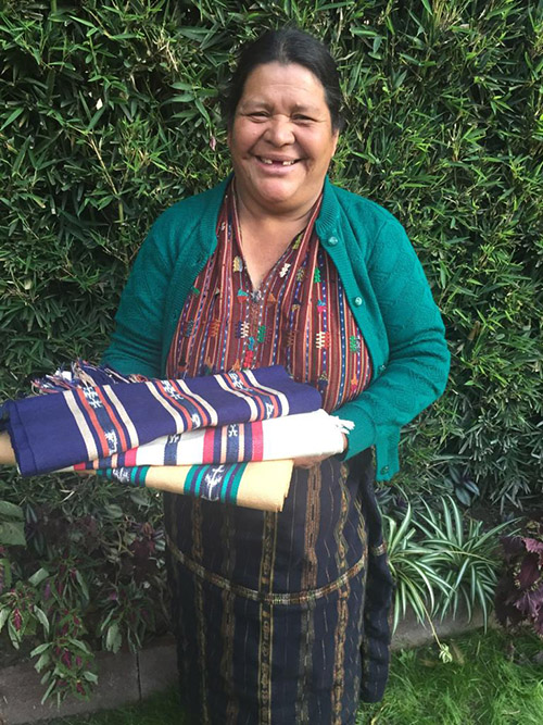 Francisca Tun - Monte Mercedes, Solola - Friendship Bridge's client for 14 loan cycles.With her strong presence and motivation, Francisca is pleased to be one of our featured artisans. Along with two employees, she weaves both bookmarks and table runners on her backstrap loom.