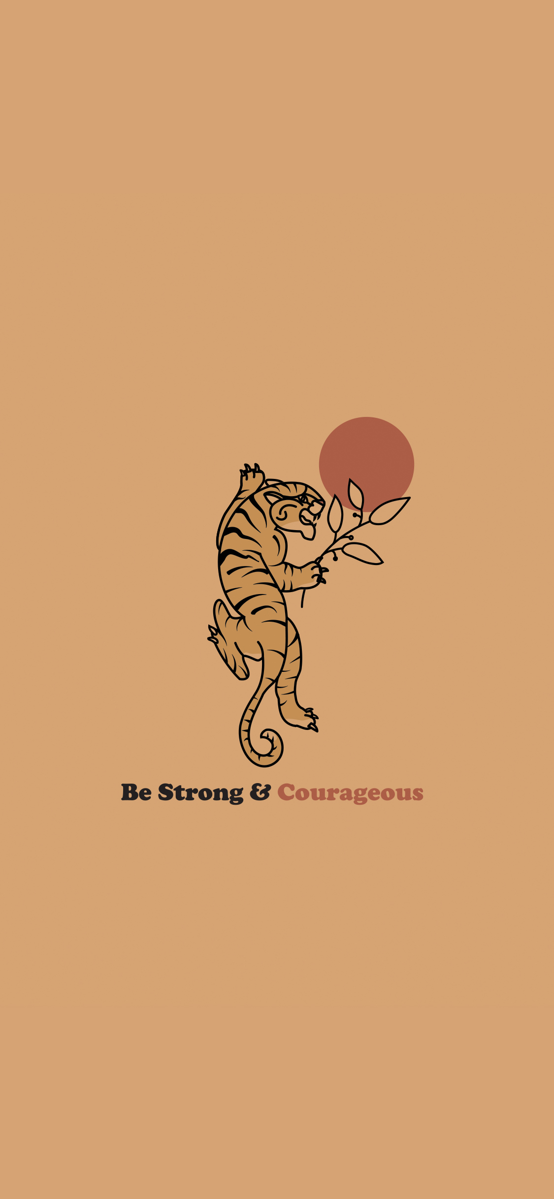Download Be Strong & Courageous wallpaper