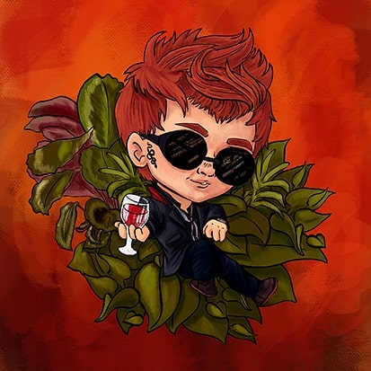 I'm debating of doing chibi designs of the other charecters. I had a lot of fun drawing these.  Let me know what you think! . . . #goodomens #crowley #plants #wine #chibi #art #fanart #artist #artistsoninstagram #cheriebryant #digitalart