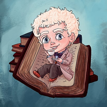 More good omens arts. This time a 'chibi' style that I decided to pull out for stickers. I also made them into mini post cards. I havent drawn chibis in years and its intersting how its changed and what I do diffrently now ^^ . . . #goodomens #aziraphale #books #chibi #tea #art #fanart #digitalart #artist #artistsoninstagram #cheriebryant