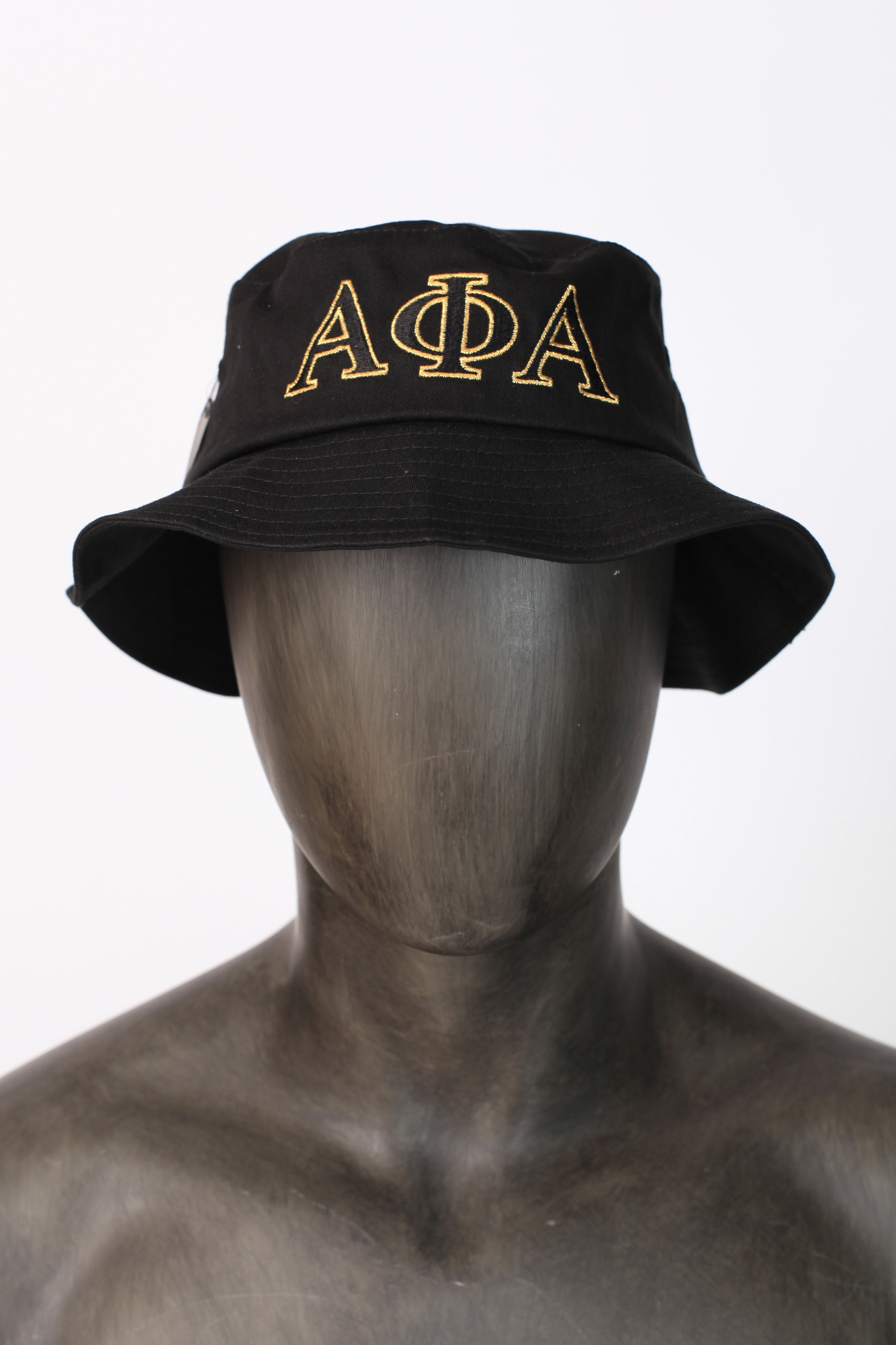 Black Alpha bucket hat