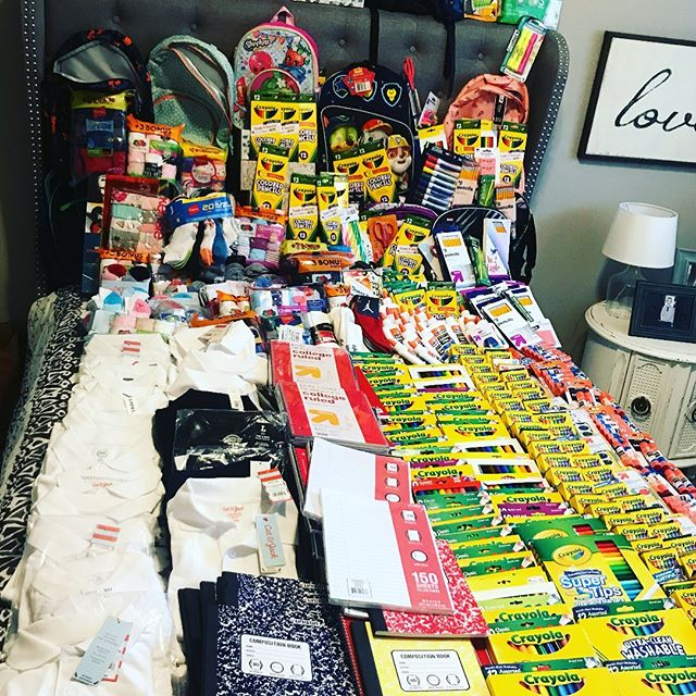 It's that time of year again!!!!! This is will be our S E V E N T H year doing our annual back to school drive for local communities in need. • • The picture above was the amount we collected last year. This year, Evelyn and I teaming up with @frenchieswoodbury in hopes of helping two more local schools. If you'd like to help, we will be collecting  supplies now till the end of August. • • Together we can make a difference in this world.