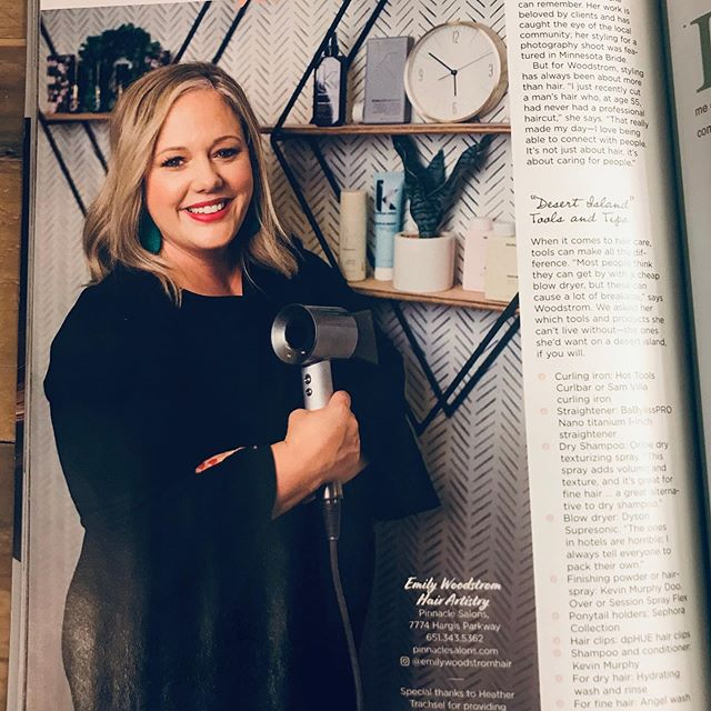 Special thanks to @woodbury_mag for this incredible opportunity.  I'm not one to put myself on display, but this article in the recent fall magazine made me feel SUPER proud. •  I've loved this passion of mine HARD for the past 18 years. I feel honored to be able to work with my guests, they've become my family and they have welcomed me into their own. • You see, success isn't measured by your net worth. It's about how many lives you touch, how you make people feel, and the smile they see when you turn around that chair... THATS what life is all about. • • • 📷: @c_emeott  Makeup: @heathertrachsel • #mnhairstylist #woodburymagazine #emilywoodstromhair #daymaker #lovemyjob #bossbabe #femalepower #hair #kevinmurphy #hairstylist
