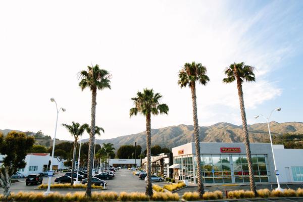 Malibu Village Storefronts and Parking Lot