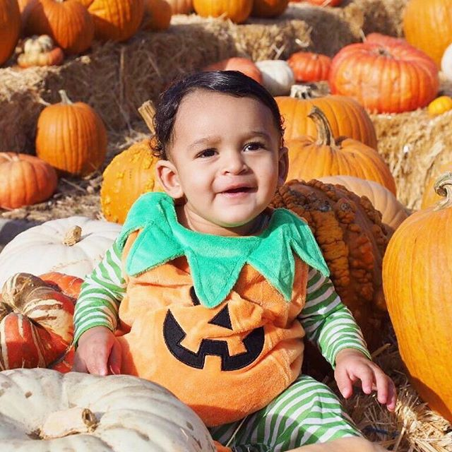 I think I found the cutest pumpkin in the patch 🎃  #sundayfunday #pumpkinpatch #happyhalloween #babyfirsthalloween
