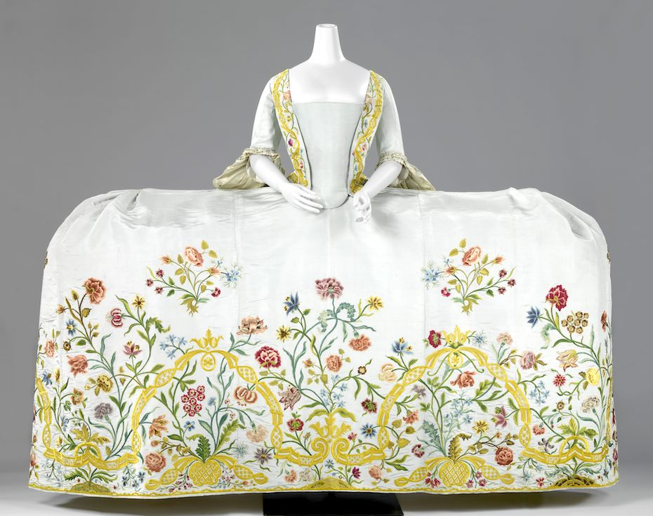 If it doesn't fit now, and it hasn't fit in quite a while…  Image: [Wedding] Dress (Mantua) with Train, anonymous, c. 1750 - c. 1760, Rijksmuseum. Used with permission.