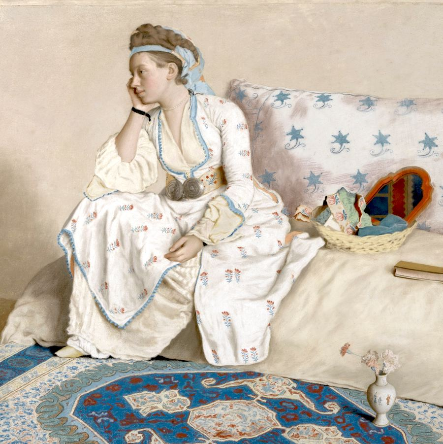 Always a good question to start with. Image:  Marie Fargues, the Painter's Wife,  Jean-Etienne Liotard, 1756 - 1758, Rijksmuseum. Used with permission.