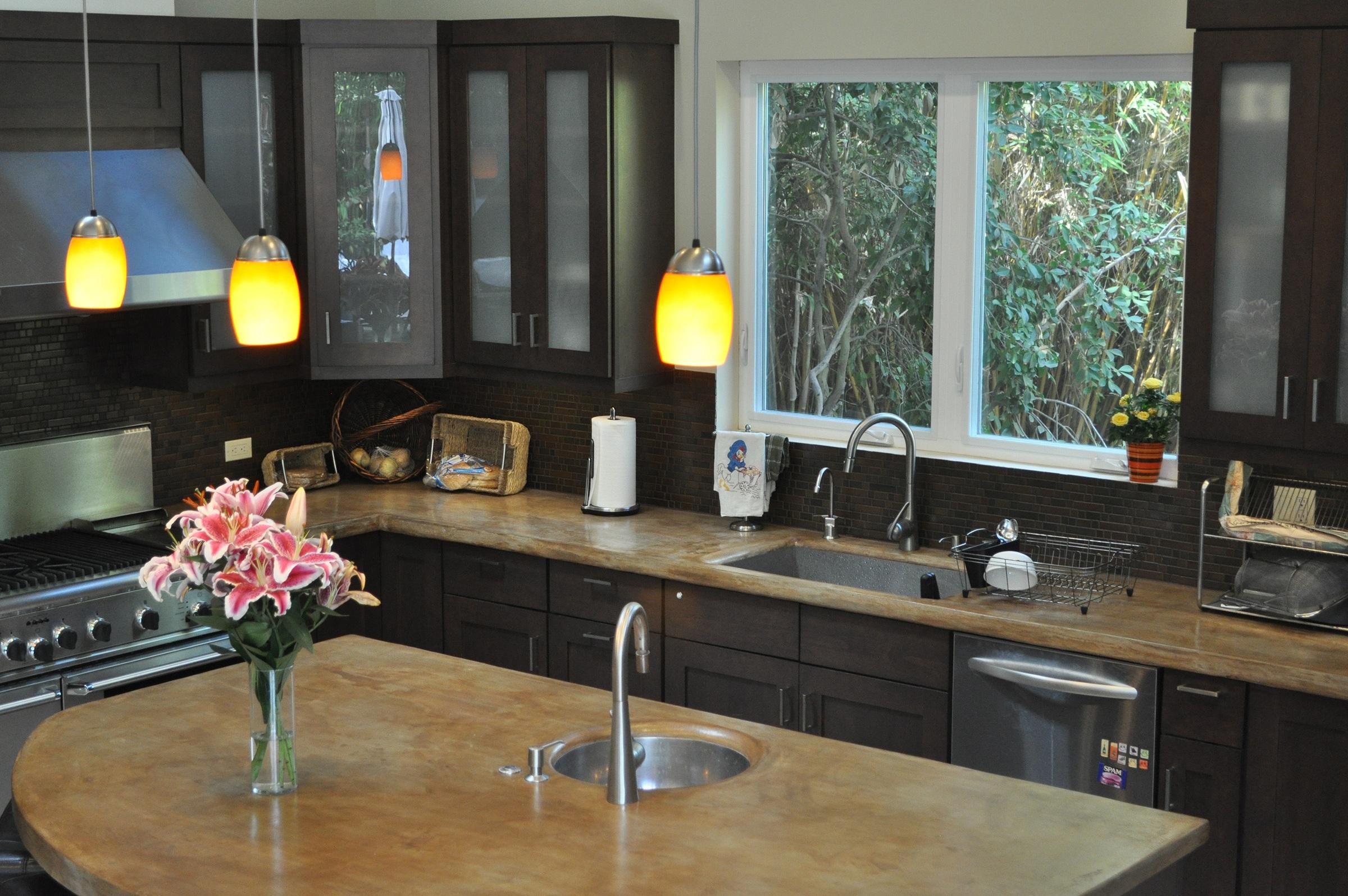 Eco Oasis - Culver CitySkylightsBi-fold glass wallConcrete islandSolar PowerGrey water
