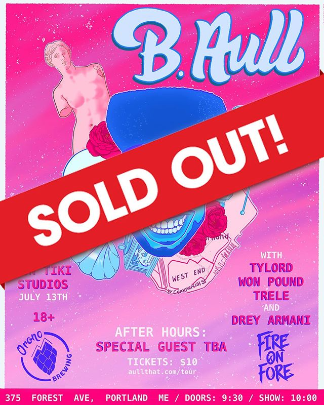 YO!🚨 This is wild but my first hometown headline show and we SOLD THAT BITCH OUT😱 SOLD OUT‼️ My team and I really spoke this into existence, man. Tomorrow is about to be fucking amazing🤩 If you slept....sorry bout it! Maaaaan I'm so hyped up. Maybe we'll release some extra tickets at the door🤔 Will be announcing ticket giveaway winners very soon!🙌🏽