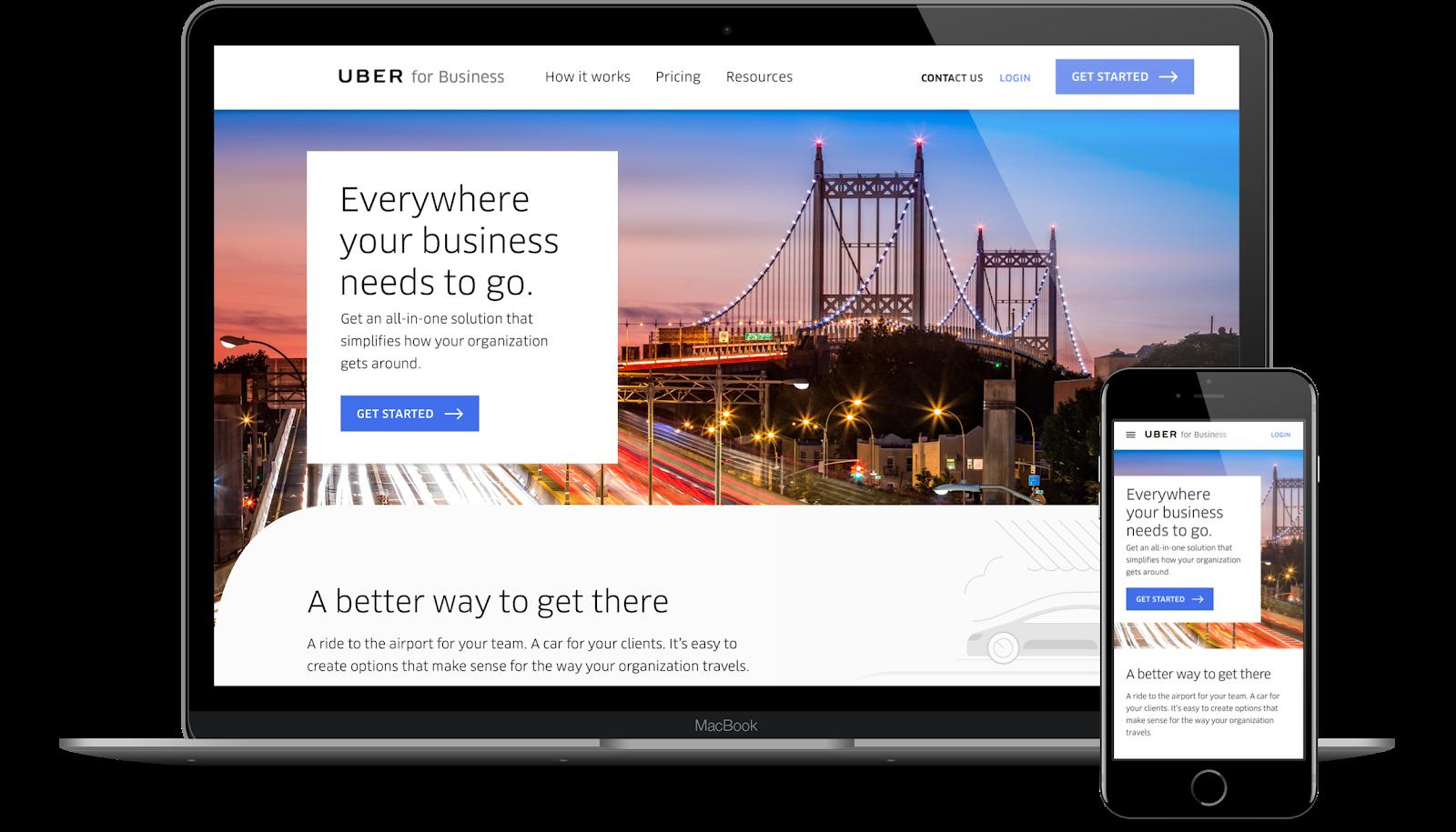 Uber, 2017. Website. Agency: LMNO.