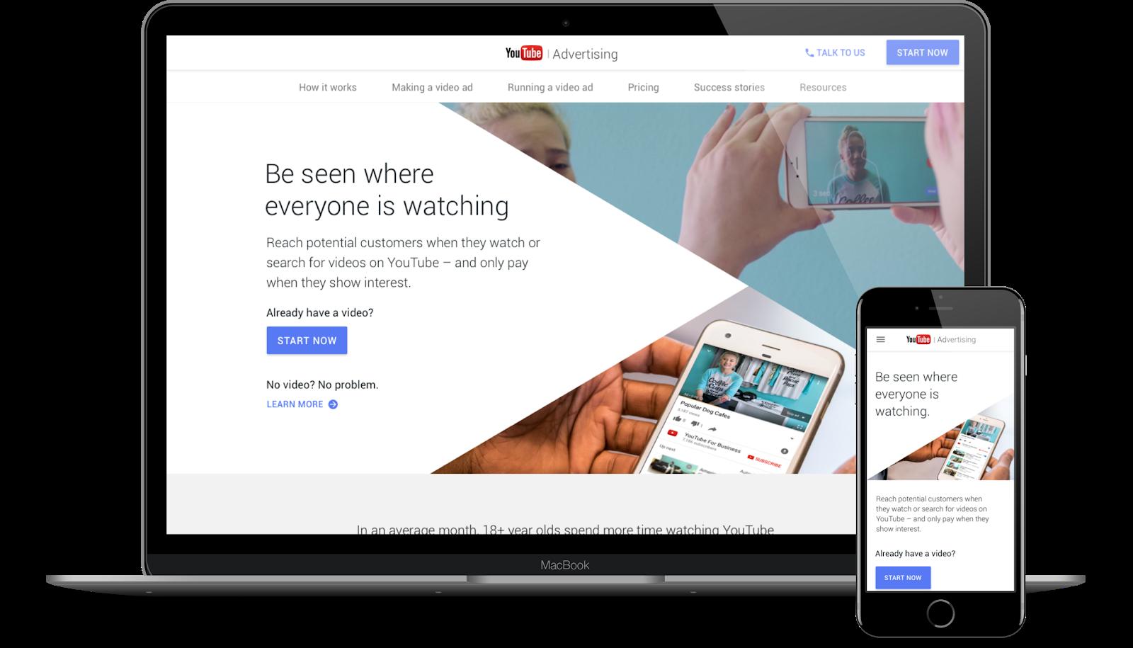 YouTube, 2017. Website. Agency: Firewood.