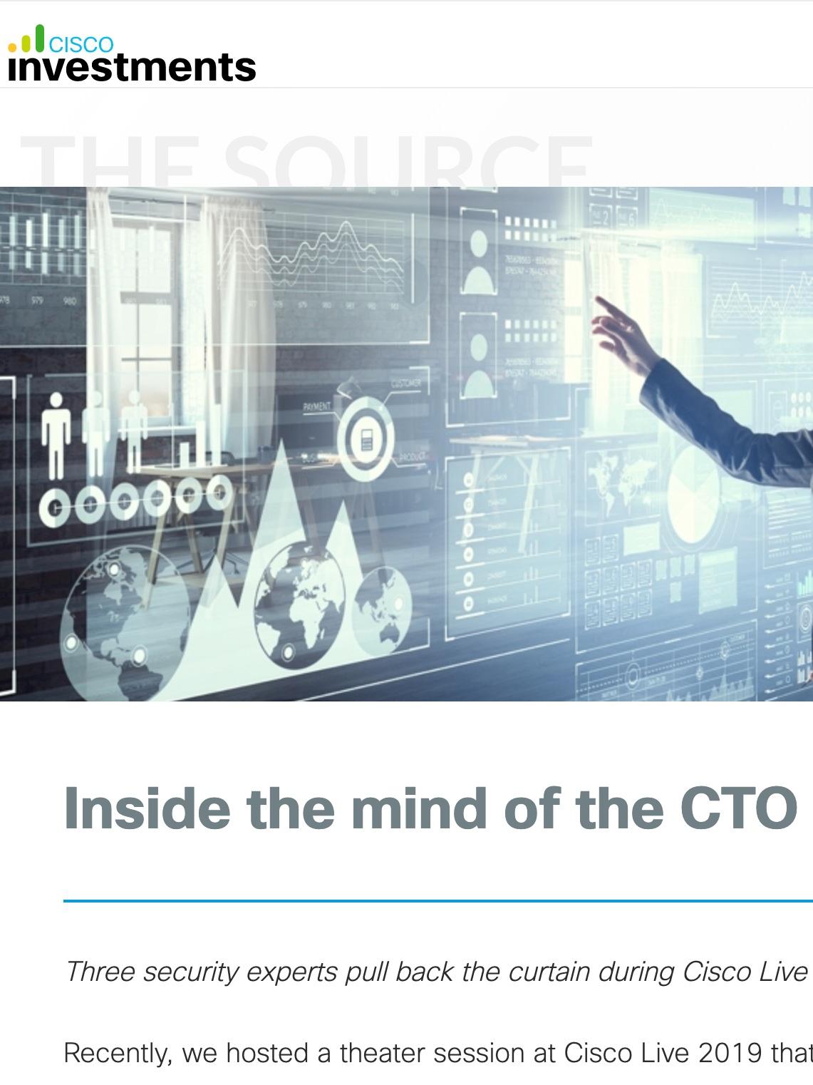 Cisco Investments, 2019. Blog.