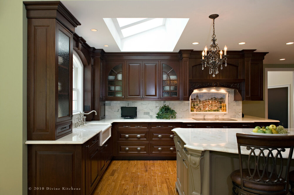 Boston Metrowest French Traditional Kitchen With Mural Divine Design Center