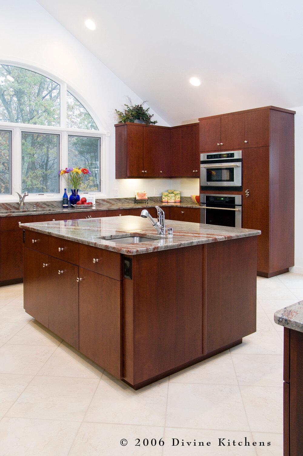 Boston Metrowest Modern Contemporary Cherry Kitchen Divine Design Center