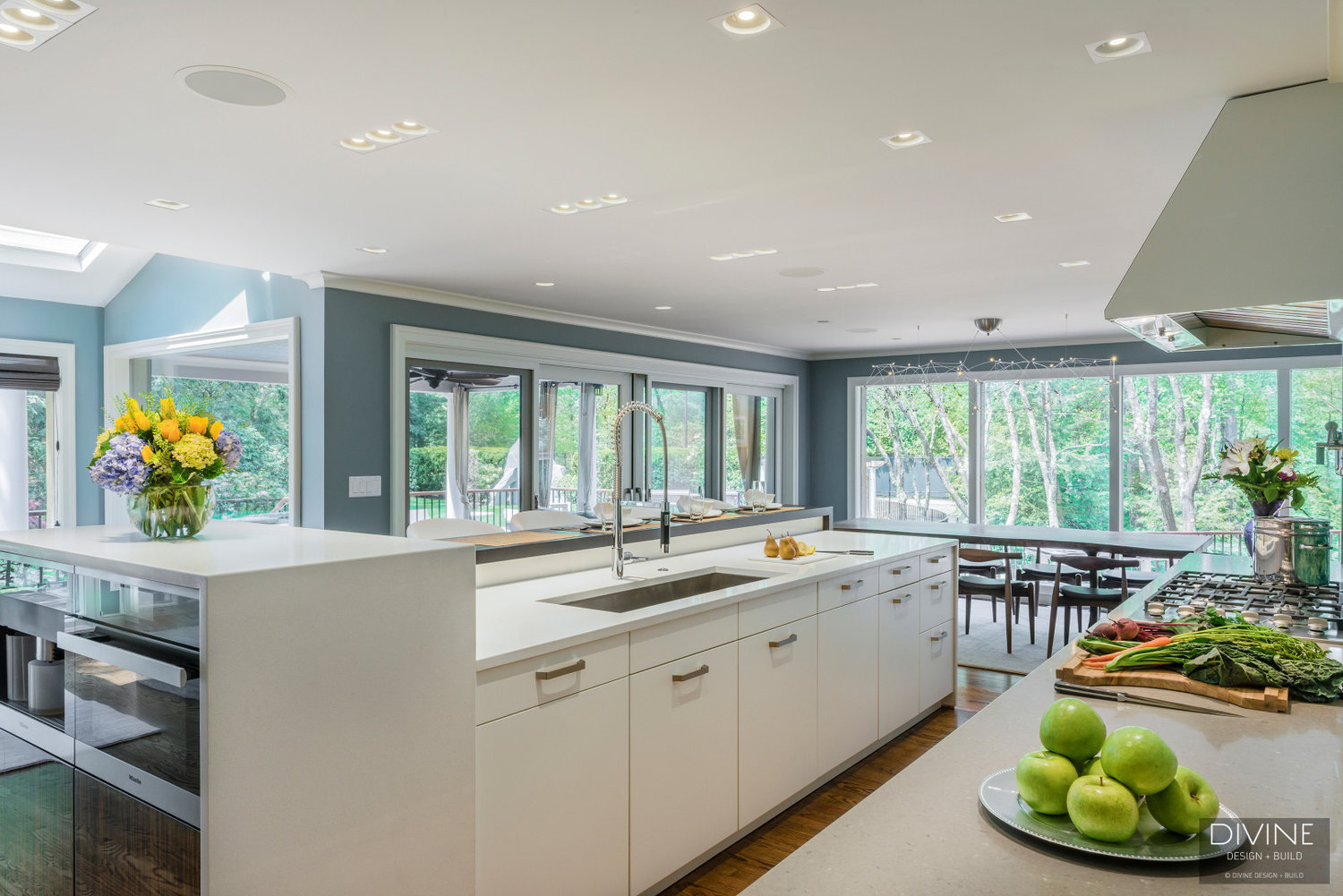 Boston Weston Contemporary Modern Leicht Kitchen Divine Design Center