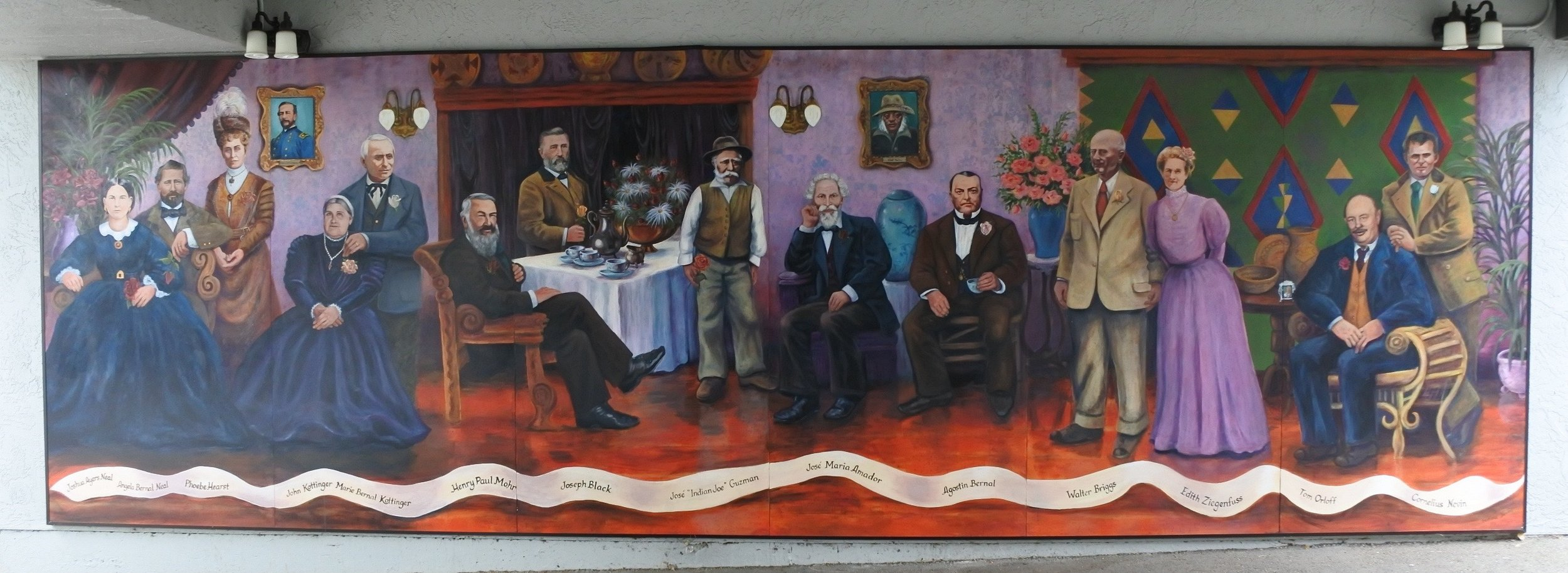 Pleasanton Founders Mural - Maintained by Preservation Arts