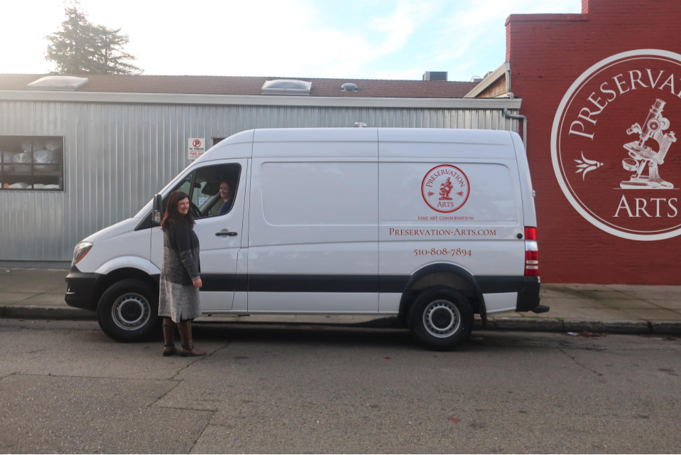 We can pick up & deliver your artwork in our Sprinter Van