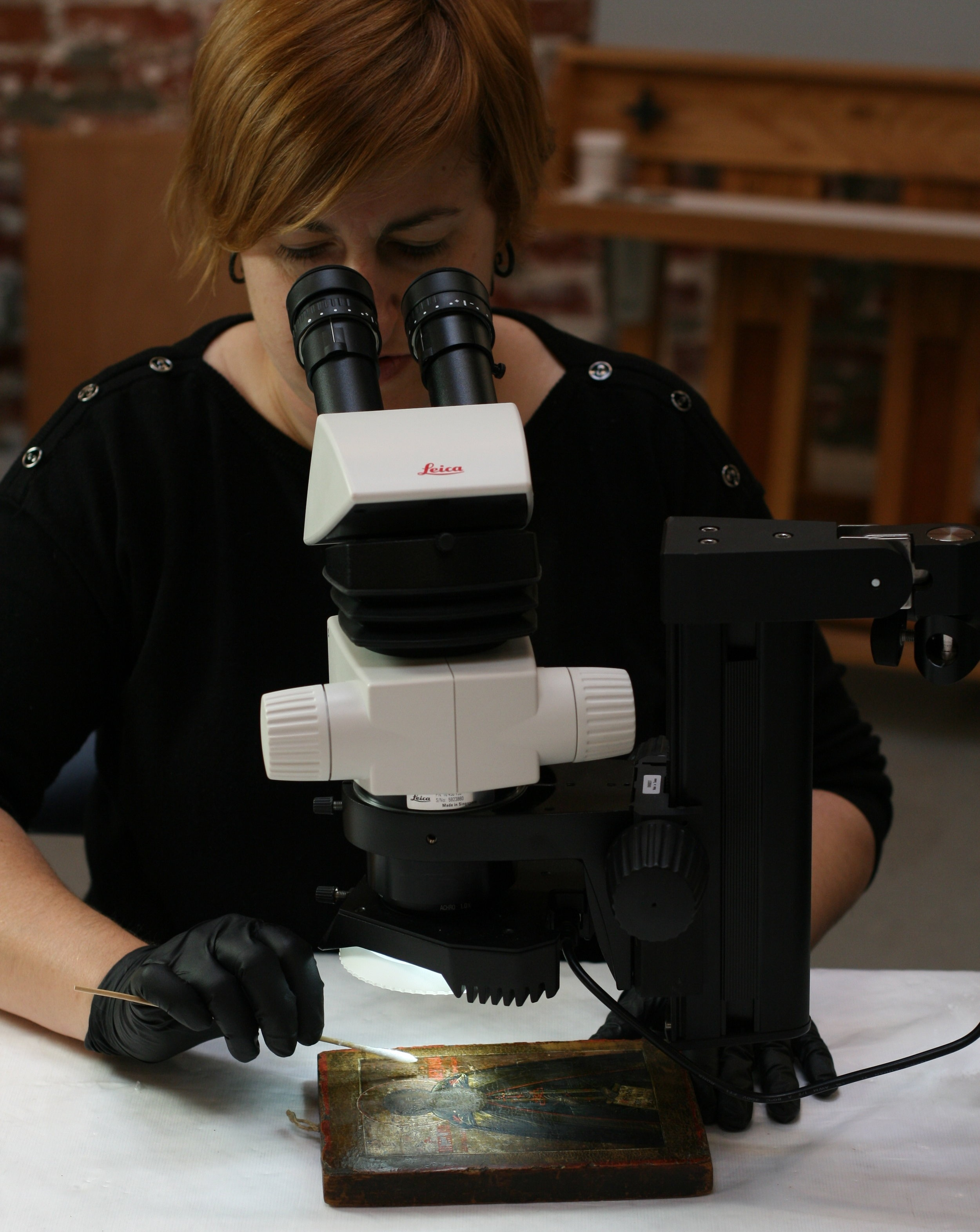 Visible Light Microscopy can be used for examination or treatment.
