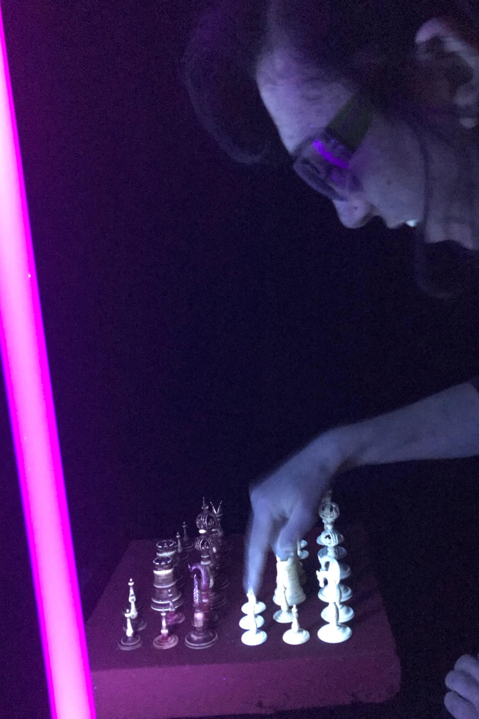 Examination under UV light