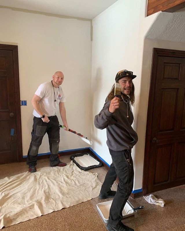 Our team working hard on another project. Give us a shout if you need help with any home projects, property management, or seller services. . . . #blackdogpropertymanagement #blackdogbuilders #parkcityutah #smalljobs #housefixes