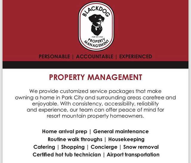 @blackdogpropertymanagement can help maintain your property, so you can focus on other things.  Routine site visits, ongoing maintenance, repairs and cleaning services are just an example of what we offer.  Contact us for more information! . . . #blackdogbuilders #blackdogpropertymanagement #parkcitylife
