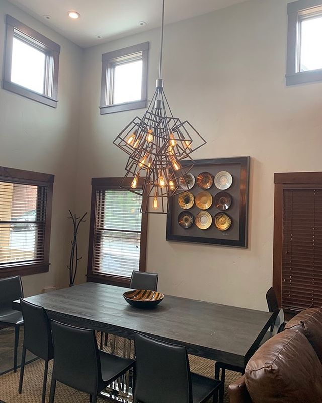 New lighting is a simple yet effective way to give your home an update. Let us know if we can help you with any and all home projects. . . . #blackdogpropertymanagement #blackdogbuilders #homeimprovement #parkcitybuilders