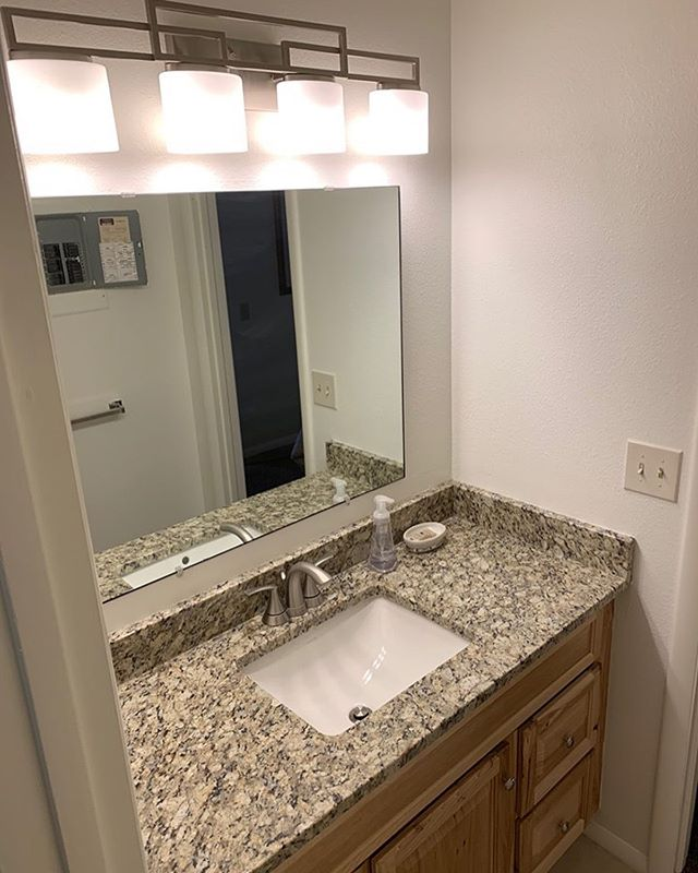 Little face-lift we did in Red Pine Condos. Tile, counters, tub and cabinets were updated. . . . #blackdogpropertymanagement #homeimprovement #parkcitybuilders