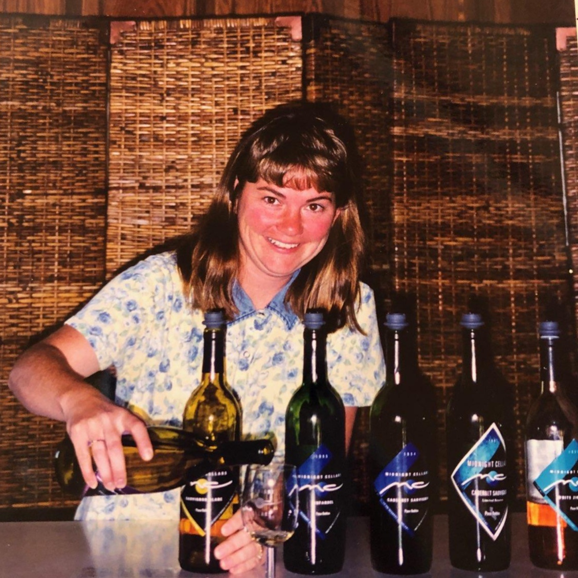In the early days, daughter-in-law Michele worked the tasting room. Check out the original labels !