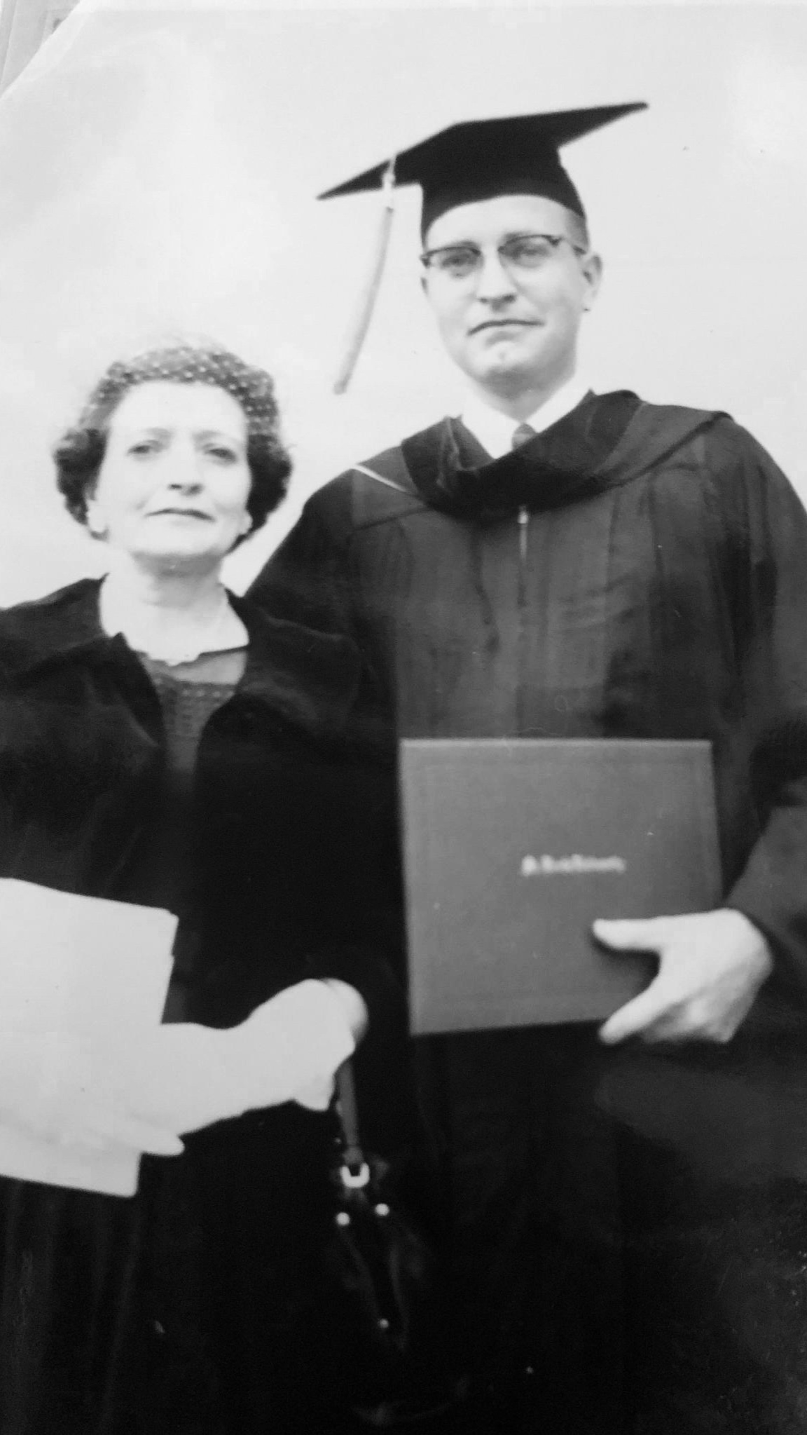 Robert Hartenberger with his mother at his Law School graduation.