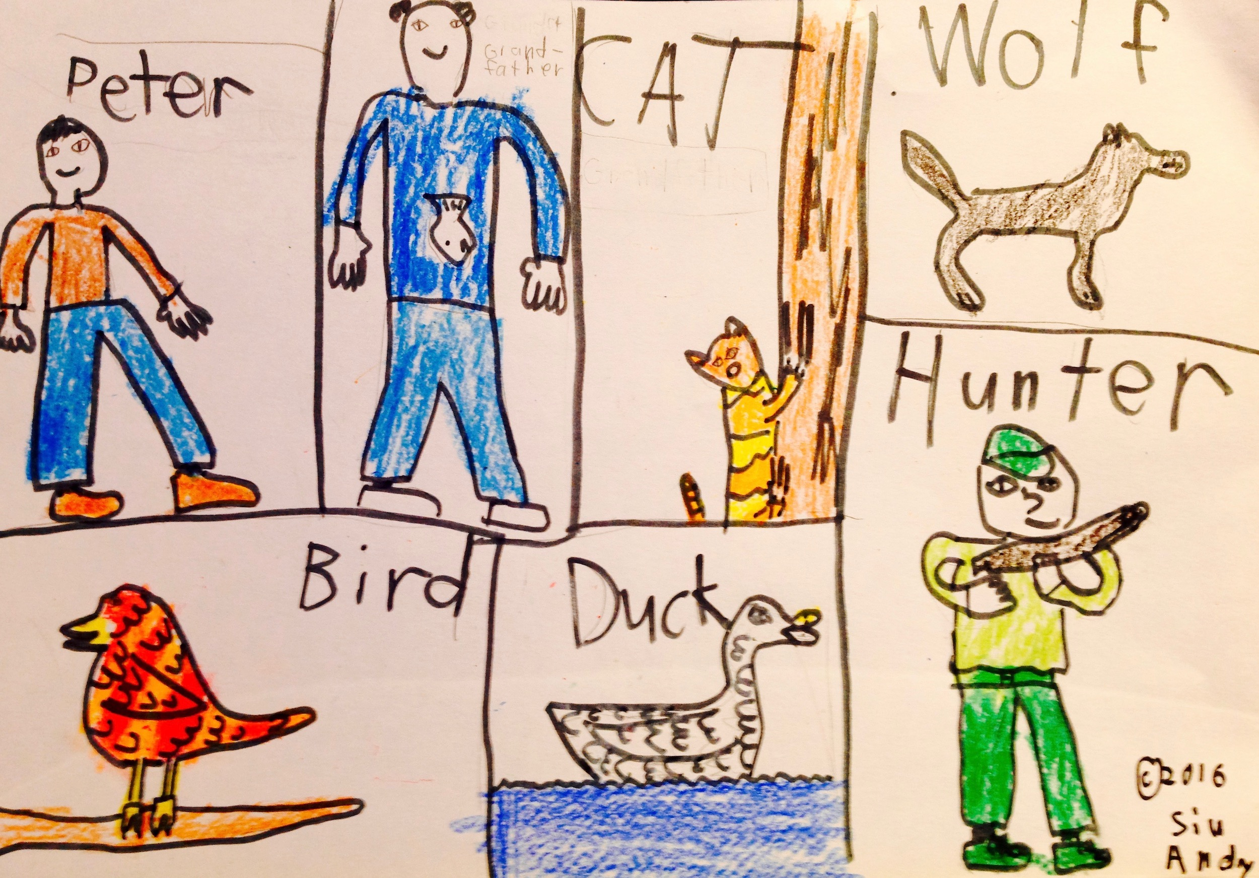 Peter and the Wolf – as drawn by Andy