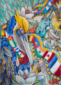 - Festival International de Louisiane announced Cayla Zeek as the Official 2017 Visual Artist. Zeek has created a piece that captures the spirit and joy of the nation's largest international music festival.