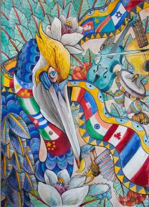 - Festival International de Louisiane announced Cayla Zeek as the Official 2017 Visual Artist. Zeek has created a piece that captures the spirit and joy of the nation's largest international music festival.
