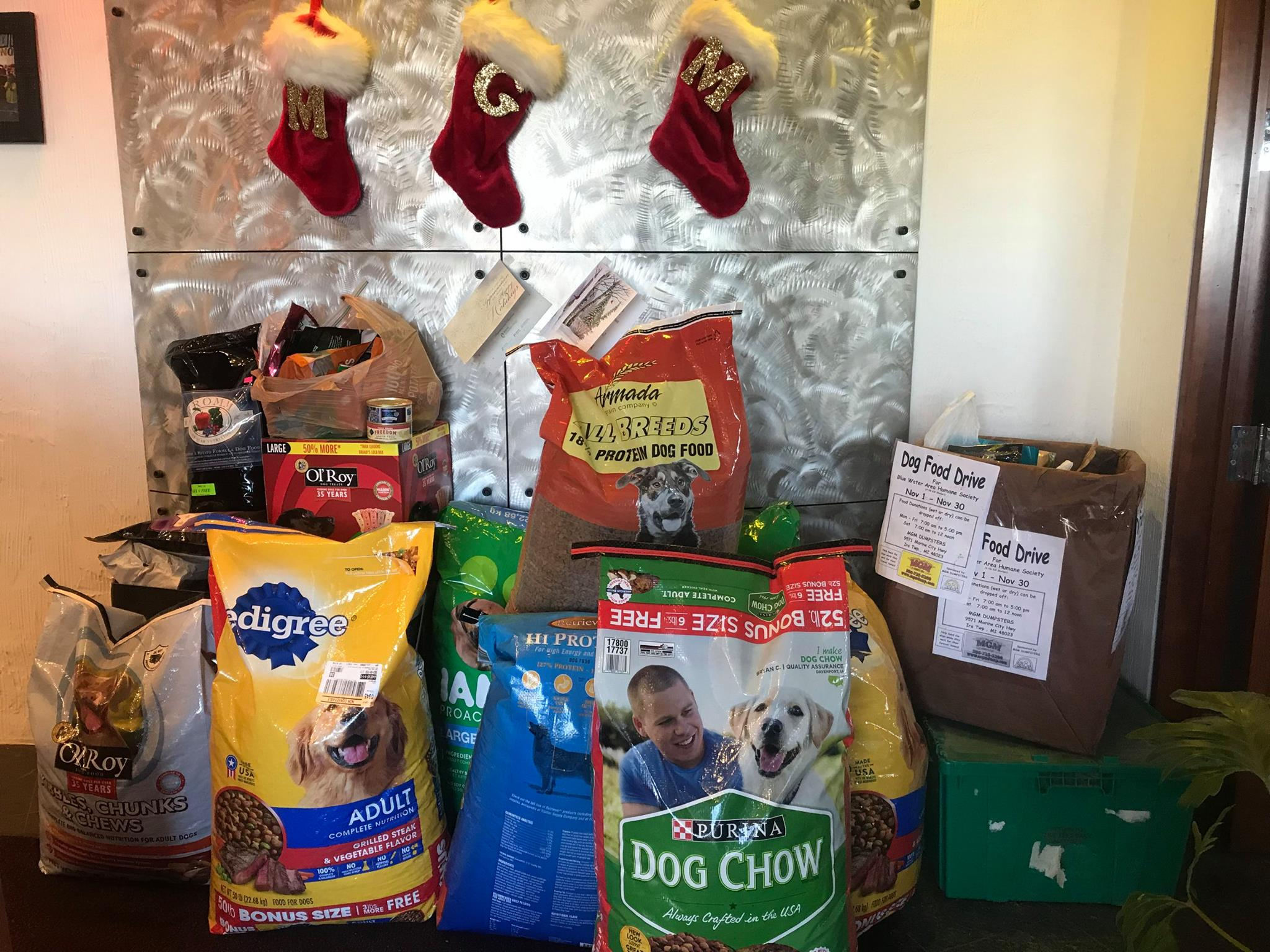 2017 Blue Water Area Human Society Dog Food Drive