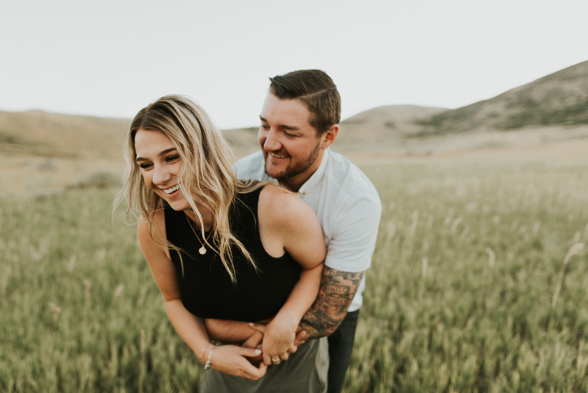 Denver Colorado anniversary session with tattooed rad couple