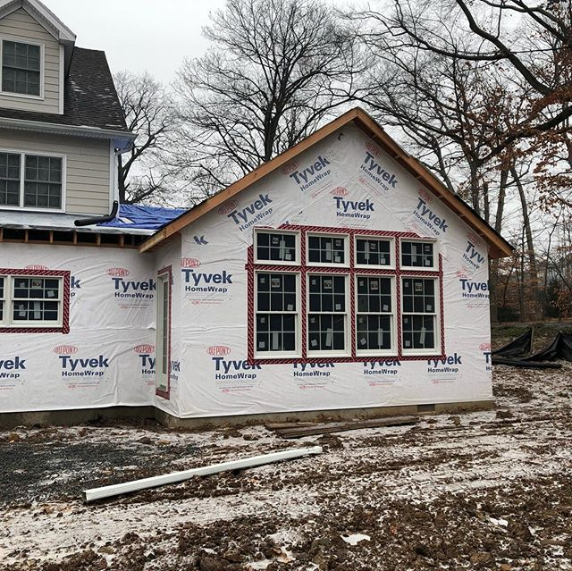 This kitchen and family room addition in Caldwell is on its way. #jacarchitect #familyroom #vaultedceiling #chiefarchitect