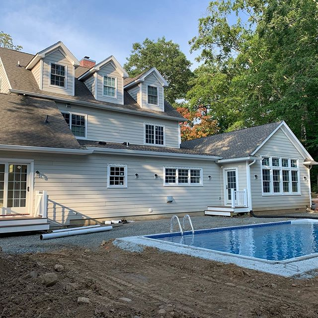 I love to see a beautiful home get even prettier. A gorgeous kitchen and family room addition and garage and pool are well underway.  #jacarchitect #kitchenaddition #chiefarchitect #pool