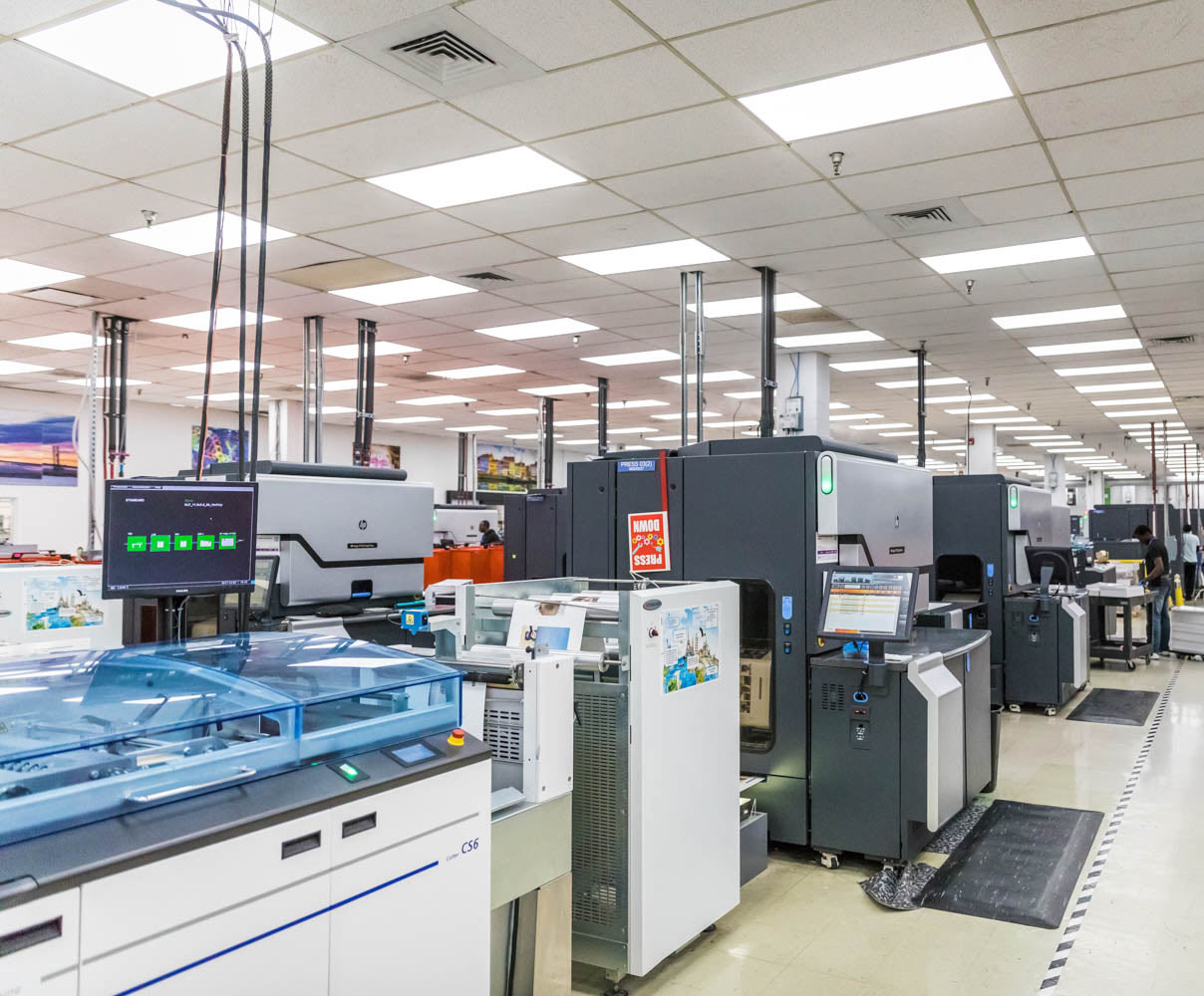 Scale of Operation - Multiple facilities, a fleet of HP Indigo printers and automation in our sublimation gift facility allows us to offer unmatched order fulfillment capability