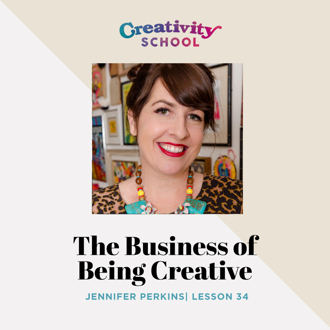 Lesson 34 - Jennifer Perkins   How to be a badass creative entrepreneur, build your business, and make money doing what you love with creative content designer and crafter Jennifer Perkins.   August 26th 2019