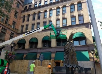 The Rupp Building, located at 2 W. Main St., is undergoing renovations in hopes of finding tenants for the historic building. - (Photo / Emily Thurlow)