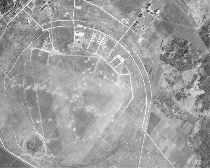 Detail of military airfield during the Battle for the Narva (Estonia) Bridgehead, March 1944.