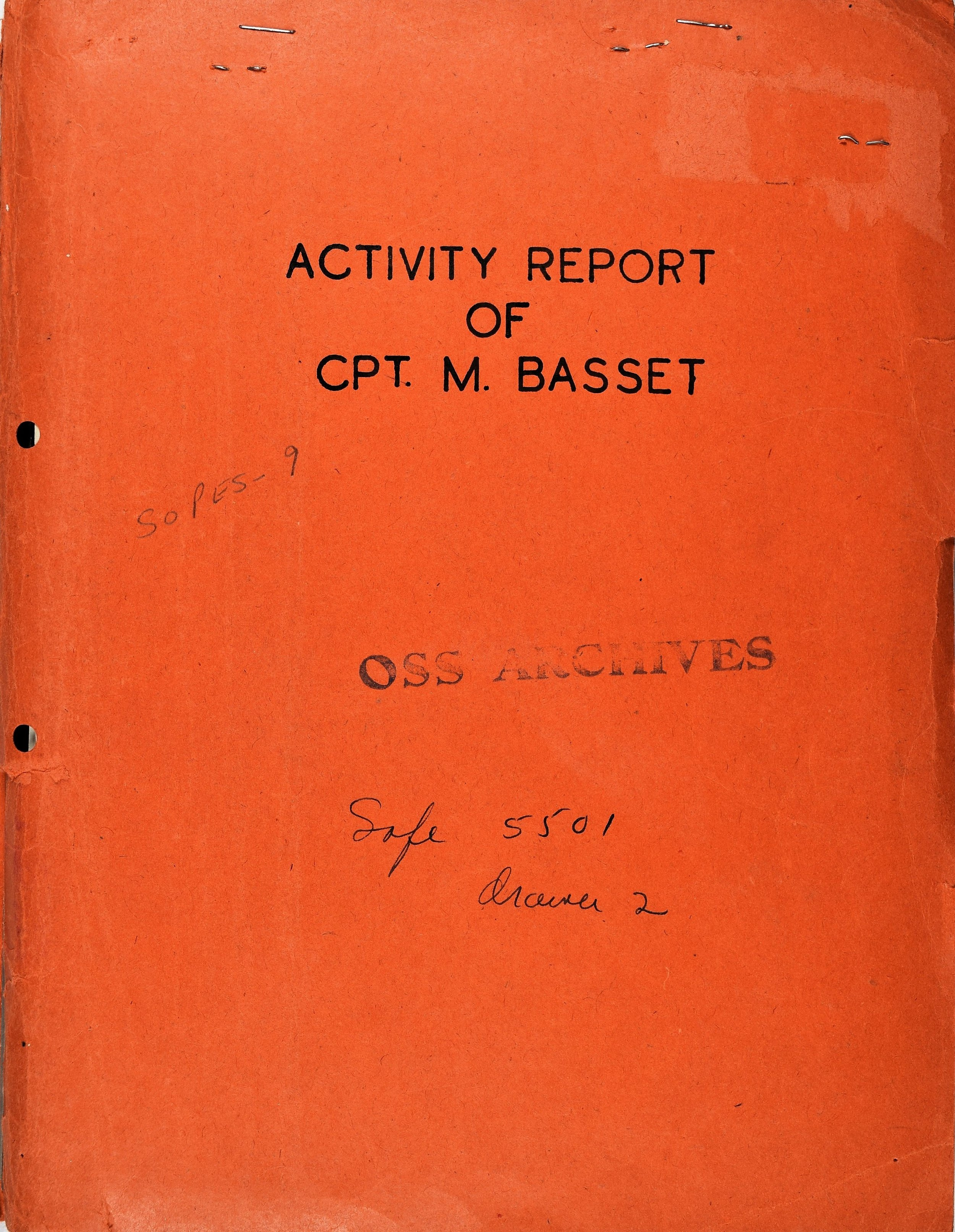 Post-operative debrief of OSS Captain Basset's clandestine mission in the French Alps Maritimes in 1944.