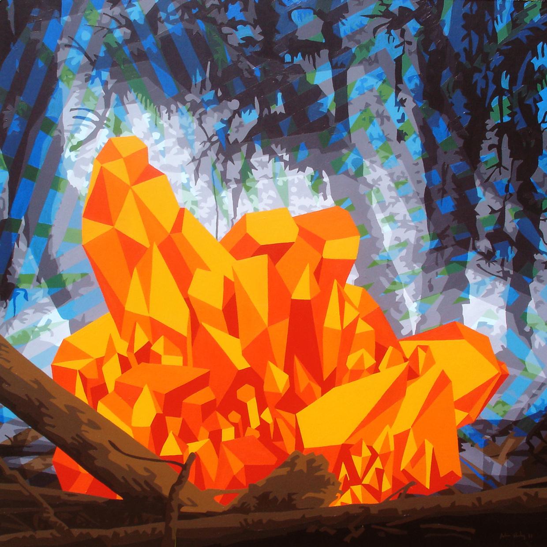 "Crystal Forest   Acrylic on hardboard panel  36"" x 36"" 2011"